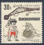 Sellos de Europa - Checoslovaquia -  Pistole skoleckovym zamkem  Cheb Kolem r.1580