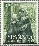 Stamps Spain -  ESPAÑA 1962 1464 Sello Nuevo Misterios del Santo Rosario Visitación (Correa)