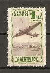 Sellos de Europa - Espa�a -  Lineas Aereas Iberia. ( Pro-Montepio).
