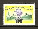 Stamps Maldives -  100 Aniversario de la U.P.U.