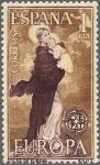 Sellos de Europa - España -  ESPAÑA 1963 1519 Sello Nuevo Europa CEPT Nuestra Señora de Europa de Angulo