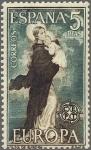 Sellos de Europa - España -  ESPAÑA 1963 1520 Sello Nuevo Europa CEPT Nuestra Señora de Europa de Angulo