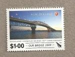 Sellos de Oceania - Nueva Zelanda -  50 Aniv inauguración puente Auckland