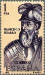 Stamps Spain -  ESPAÑA 1964 1625 Sello Nuevo Forjadores de América Francisco Pizarro (1478-1541)