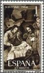 Sellos de Europa - España -  ESPAÑA 1964 1630 Sello Nuevo Navidad Nacimiento Zurbarán