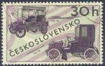 Sellos de Europa - Checoslovaquia -  Automobil S Baldachynovou Strechou 1900-1905  Ctyrsedadlove Coupe 1900-1905