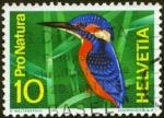 Sellos de Europa - Suiza -  Pájaro azul