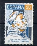 Stamps Spain -  Fray Luis de Granada- IV centenario
