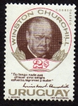 Stamps Uruguay -  Winston Churchill