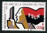 Stamps Nicaragua -  XX Aniversario del FSLN