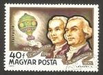 Sellos del Mundo : Europa : Hungría : historia del dirigible, los hermanos montgolfier