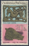 Sellos de Europa - Checoslovaquia -  Sala Nad Vahom / Hollare   VIII-IX Storocie
