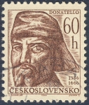 Stamps Czechoslovakia -  Donatello 60h  1386-1466