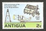 Sellos de America - Antigua y Barbuda -  aeroplano