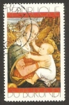 Stamps of the world : Burundi :  pintura, mujer y niño