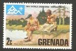 Stamps : America : Grenada :  14 reunion mundial de scouts, en Noruega