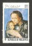 Stamps Asia - Maldives -  cuadro de picasso