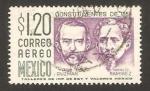 Sellos de America - México -  198 - León Guzman e Ignacio Ramirez