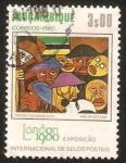 Sellos del Mundo : Africa : Mozambique : exposicion internacional de sellos en londres, pintores mozambiqueños