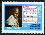 Sellos del Mundo : America : Nicaragua : Cantantes de Opera