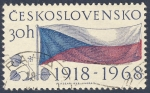 Sellos del Mundo : Europa : Checoslovaquia : Bandera nacional 1918-1968