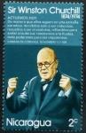 Sellos del Mundo : America : Nicaragua : Centenario de W. Churchill