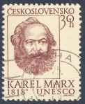 Stamps Czechoslovakia -  Karel Marx 1818