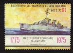 Stamps Chile -  destructor  Cochrane
