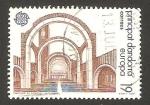 Stamps Andorra -  Europa Cept, vista interior del santuario de meritxell