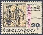 Stamps Czechoslovakia -  Jiri Beutler 10let Koncentracni Tabor Terezin