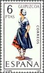 Sellos de Europa - España -  ESPAÑA 1968 1848 Sello ** Trajes Tipicos Españoles Guipuzcoa