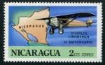 Sellos del Mundo : America : Nicaragua : 50 Aniv. Charles Lindbergh