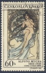 Stamps Europe - Czechoslovakia -  Alfons Mucha 1860-1939