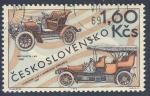 Stamps Czechoslovakia -  Automobile L&K S Americkou Strechou 1907  Voituretta L&K 1907