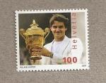 Sellos de Europa - Suiza -  Roger Federer, tenista