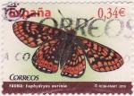 Sellos de Europa - España -  Fauna: Euphydryas aurinia