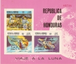 Sellos del Mundo : America : Honduras :  VIAJE  A  LA  LUNA