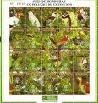Stamps America - Honduras -  AVES  EN  PELIGRO  DE  EXTINCIÓN