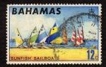 Stamps Bahamas -  Sunfish Sailboat