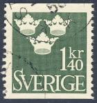 Stamps Sweden -  Tres coronas