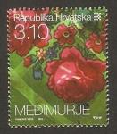 Stamps : Europe : Croatia :  875 - motivo floral de Medimurje