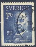 Sellos del Mundo : Europa : Suecia : Svante Arrhenius  1859 1959