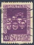 Stamps Sweden -  Varelds Flykting Aret  1959 1960