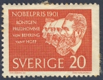 Stamps Europe - Sweden -  Premios Nobel 1901  Prudhomne von Behring vant Hoff