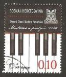 Stamps : Europe : Bosnia_Herzegovina :  200 - 10ª jornada de Matica Hrvatska, Primavera de Mostar, teclado de piano