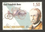 Stamps Europe - Bosnia Herzegovina -  karl friedrich benz, ingeniero