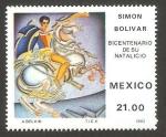 Stamps Mexico -  200 anivº del nacimiento de simón bolívar