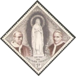 Stamps of the world : Monaco :  492 - Papa Pío XII La Inmaculada Concepción y Papa Pío IX