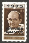 Stamps Rwanda -  papa pablo VI
