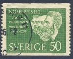 Sellos del Mundo : Europa : Suecia : Premios Nobel 1901  Prudhomne von Behring vant Hoff